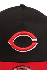 New Era 940 A Frame Cincinnati Reds OTC Black/Red Snapback Detail 1