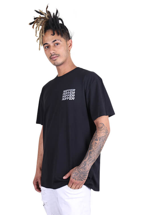 Huffer Stacked Sup Tee Black