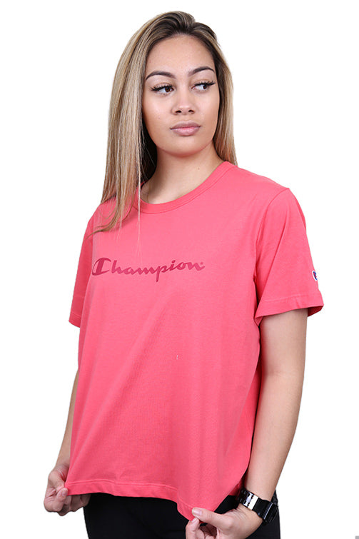 Champion Womens Script Crop Tee Desert
