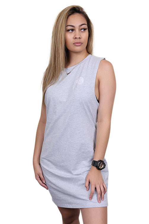 Ilabb Womens Vibes Muscle Tank Dress Grey