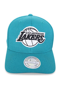 M&N 110 Lakers 6 Panel High Crown Teal Front
