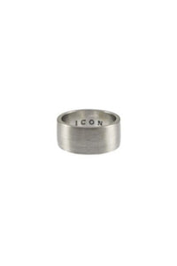 Icon Brand Brushed Off Band Ring Silver
