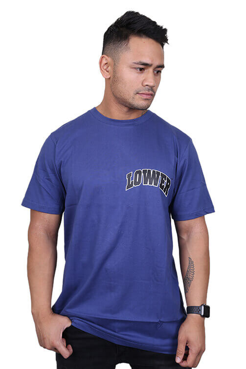 Lower Hercule QRS Tee Blue Front