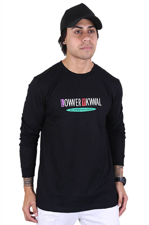 Lower Sway QRS L/S Tee Black Front