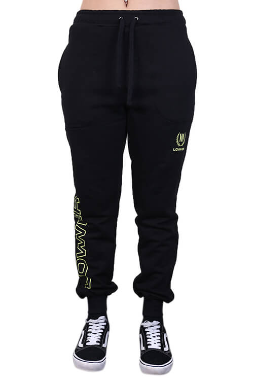 Lower Womens Troup Trackpants Black Front