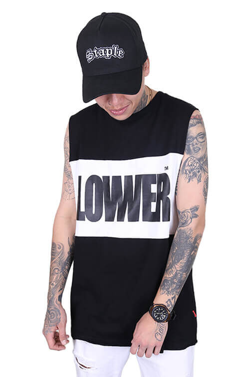 Lower Boomap Panel Tank Black/White