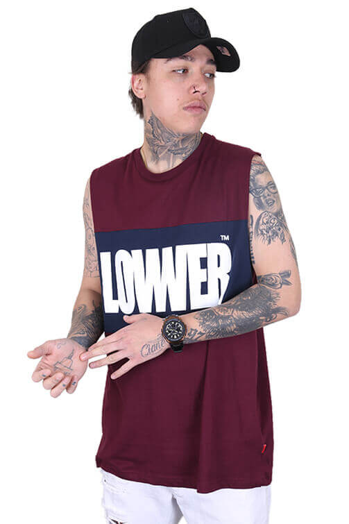 Lower Boomap Panel Tank Maroon/Navy Front