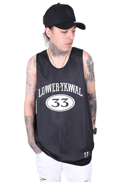 Lower Hoop Dreams Baller Singlet Black Front