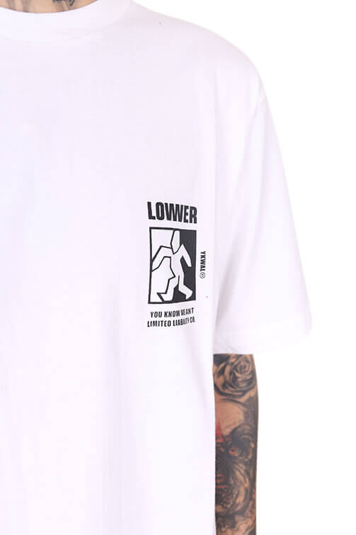 Lower Steppa QRS Tee White Detail