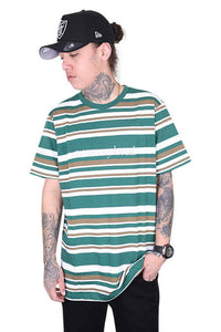 Lower Times (Embroidery) Rail Tee Green/Brown Front