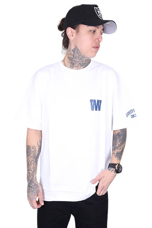 Lower Caps Heavy Weight Tee White Front