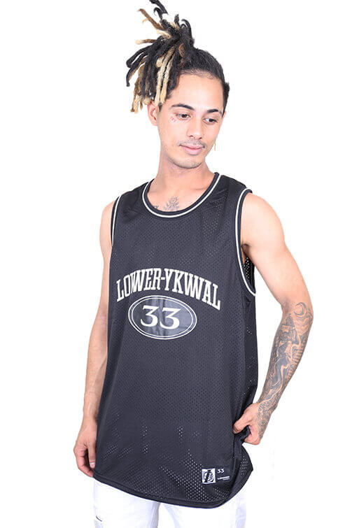 Lower Hoop Dreams Layer B-Ball Singlet Black Front