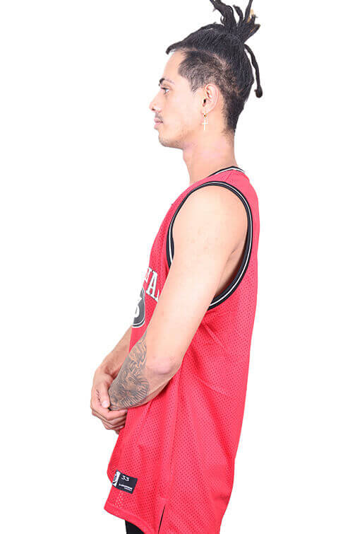 Lower Hoop Dreams Layer B-Ball Singlet Red Angle