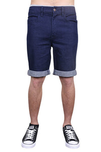 Lower Leaner Shorts Indigo Front