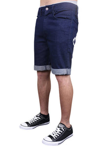 Lower Leaner Shorts Indigo Angle