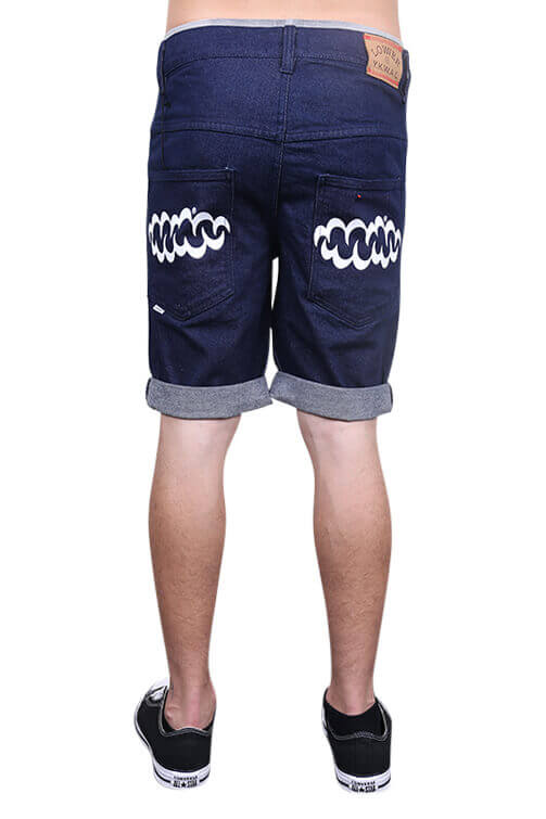 Lower Leaner Shorts Indigo Back