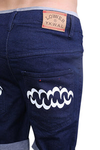 Lower Leaner Shorts Indigo Detail