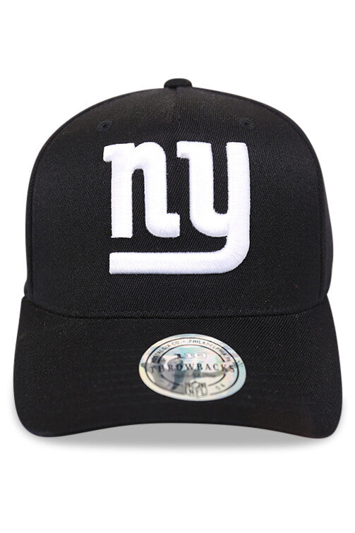 M&N 110 NY Giants Black/Team Colour Logo Snapback Front