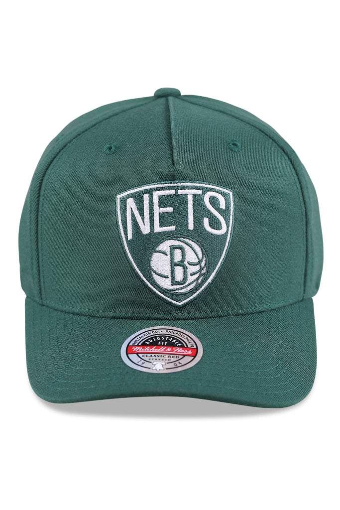 M&N Nets Clear Field Pinch Panel Dark Green Snapback Front