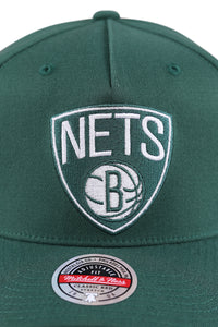 M&N Nets Clear Field Pinch Panel Dark Green Snapback Detail