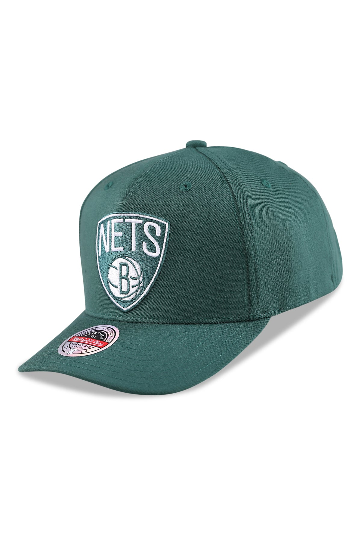 M&N Nets Clear Field Pinch Panel Dark Green Snapback Angle