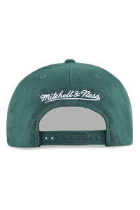 M&N Nets Clear Field Pinch Panel Dark Green Snapback Back