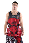 M&N Bulls Jumbotron Sublimated Tank Red front 2