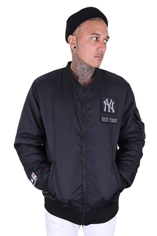 Majestic NY Yankees Marvin Jacket Black Front