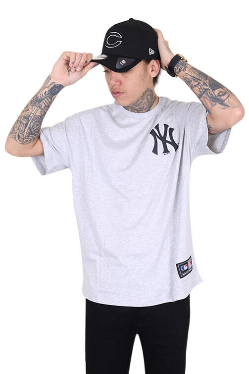 Majestic NY Carn Oversized Tee Grey