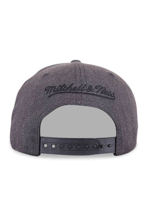 M&N Vancouver Grizzlies Dark Heather Wool BB Grey Back