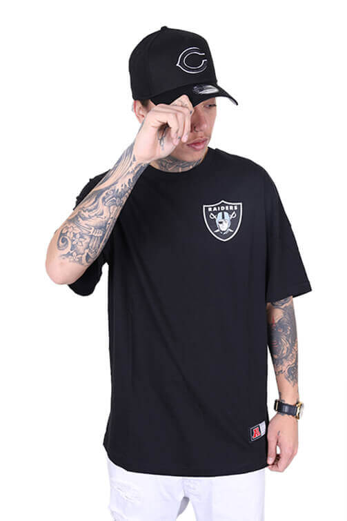 Majestic Raiders Carn Oversized Tee Black Front
