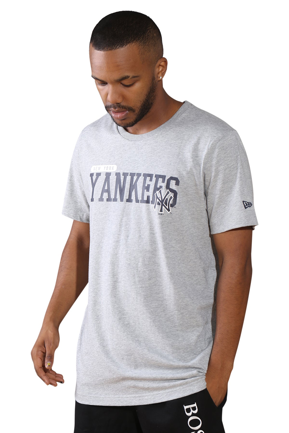 New Era NY League Overlay T-Shirt Navy Angle
