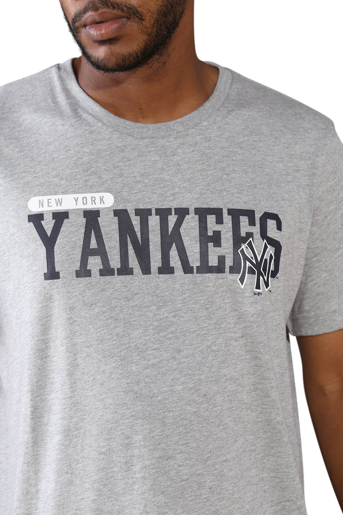 New Era NY League Overlay T-Shirt Navy Detail