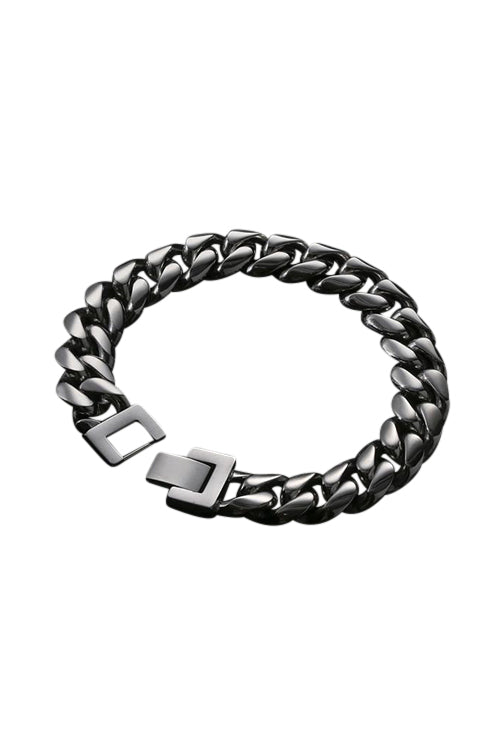 Staple 12mm Stainless Steel Cuban Bracelet