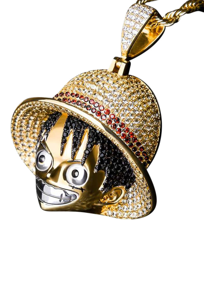 Staple 14K Gold Luffy Pendant Angle 1