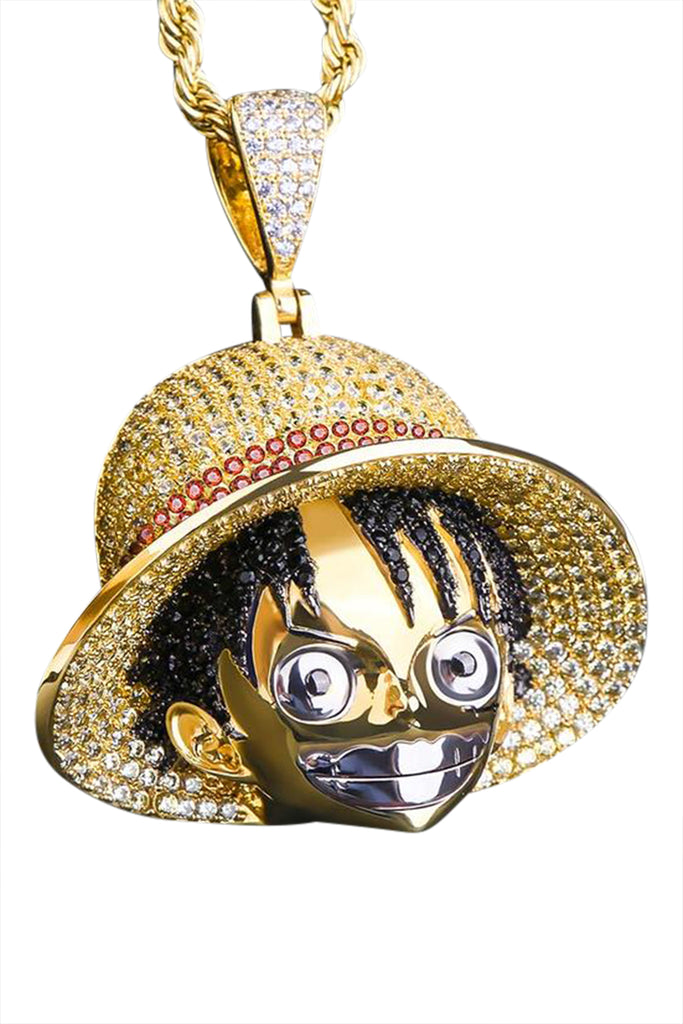 Staple 14K Gold Luffy Pendant Angle 2