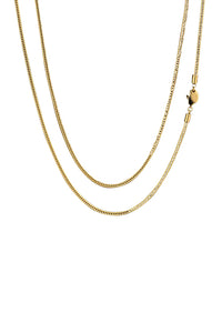 Staple 2.5mm 18k Gold Stainless Steel Franco Chain