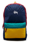 Stussy Graffiti Panel Beachpack Mustard/Navy Front