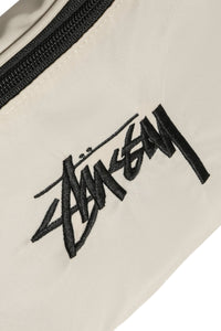 Stussy Stock Waist Bag Cement Detail