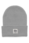 Stussy Workgear Tall Beanie Grey Marle Front
