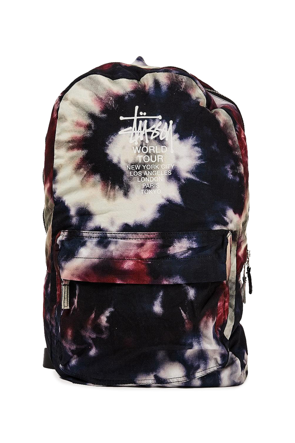 Stussy World Tour Tiedye Beachpack Multi Coloured Front