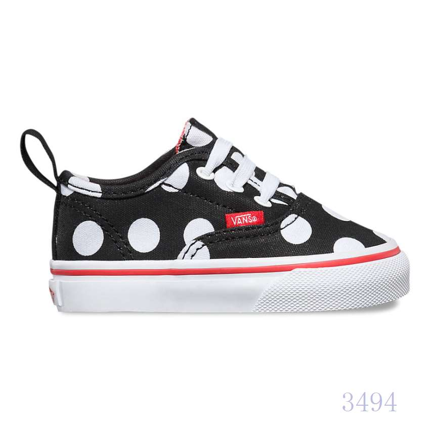 Vans Auth V Lace Polka Dot Black Red Toddler