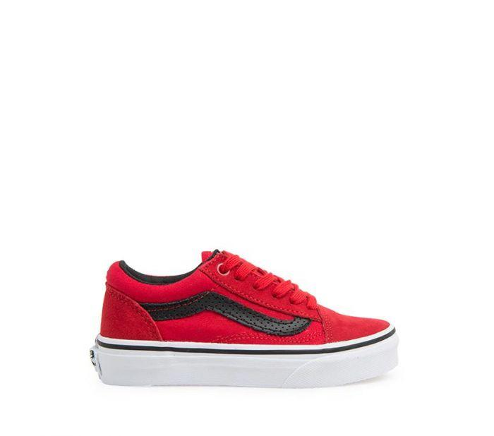 Vans Old Skool Red Black Youth