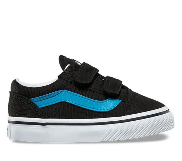 Vans Toddler Old Skool V Black/Blue