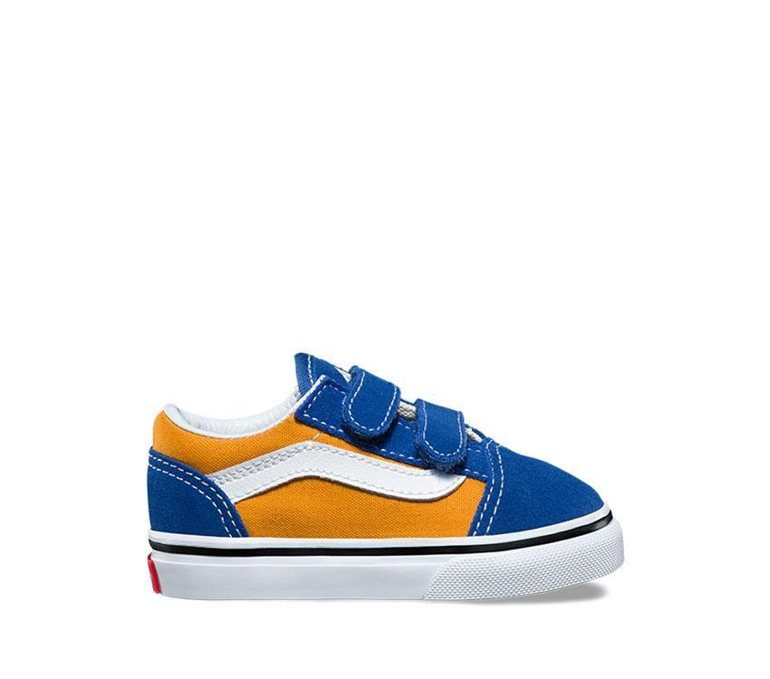 Vans Toddler Old Skool V (Pop) Orange Side