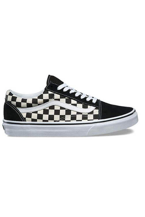 Vans Primary Check Old Skool Black/White Side