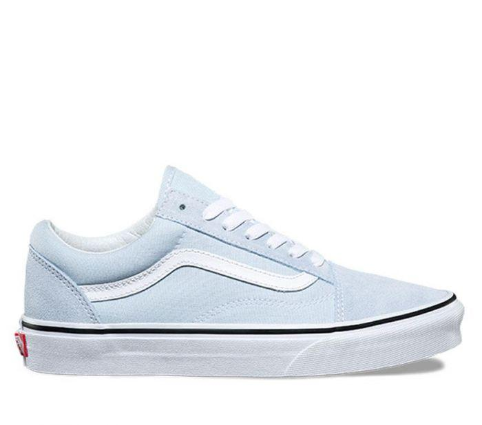 Vans Womens Old Skool Baby Blue Side