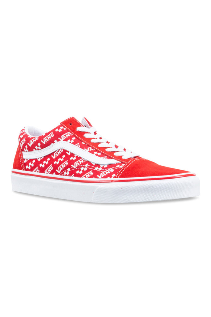 Vans Comfycush New Skool V Racing Red/True White Angle