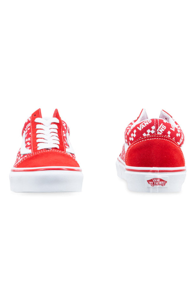 Vans Comfycush New Skool V Racing Red/True White Front and Back