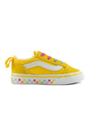 Vans Old Skool Elastic Lace Cyber Yellow/True White Side
